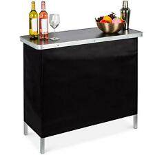 Pop Up Bar Table Portable With Carry Case Removable Skirt 110 Lbs Capacity New