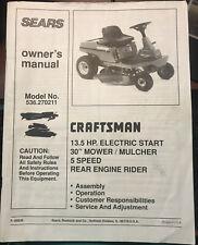 Craftsman Model 536.270211 13.5 HP 5 Speed Mower Owner's Manual
