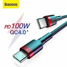 Baseus 100W PD Schnell Ladekabel USB-C zu Typ C Kabel für Samsung S20 9 iPad Pro