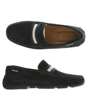 Bally Moccasin Shoes PEARCE Leather ITALY Man Black 6212806 101 Sz 41 MAKE OFFER