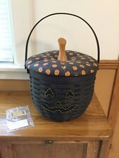 Rare Longaberger Large Black Pumpkin Basket