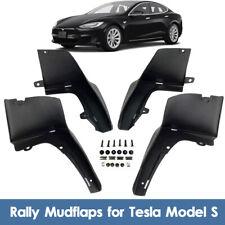 4Pcs For Tesla Model S 2012-2019 Car Mud Flaps Splash Guard Mudguard + Screws