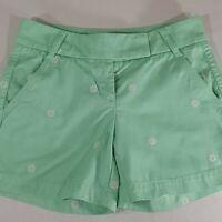 "J Crew Women's Size 00 Chino Shorts Flat Front Broken-In Ship Wheel (29""x4.75"")"