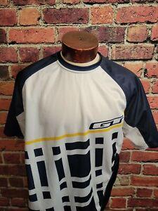 GT Cycling Jersey Men's XL Blue White Yellow Short Sleeve