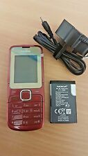 NEW CONDITION NOKIA C2-00 DUAL SIM MOBILE PHONE SIM FREE UNLOCKED RED