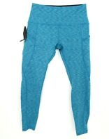Ododos Leggings Activewear Womens Size M Blue Black Heathered Look Pockets NWT
