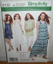 Womens/Misses Tank Dress Tunic Bralet Sewing Pattern/Simplicity 8132/SZ 4-12/UCN
