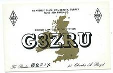 SURREY -  CAMBERLEY  QSL Transmission Confirmation Card G3ZRU