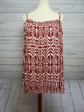 Inc International Concepts Red & White Should Cutout with Long Sleeves 16W