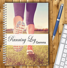 RUNNING LOG BOOK, PERSONALISED A5 RUNNERS DIARY, RUNNING TRACKER JOURNAL, 03