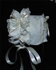 Ivory Lace On Ivory Lining Baby Bonnet