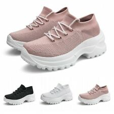 Women's Casual Sock Shoes Thick Bottom Height Increasing Ladies Sport Sneakers L
