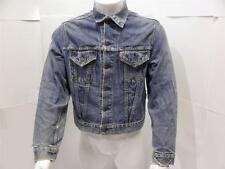 Vintage Levis Big E Denim Jean Work Biker Rock Motorcycle Trucker Jacket M