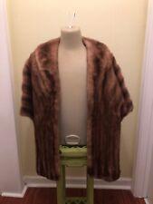 Vintage Pastel Brown Mink Fur Stole Wrap * (K4)
