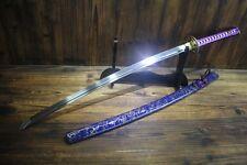 Japanese Hang Forged Murasaki 9260 Spring Steel Katana Samurai Sword Full Tang