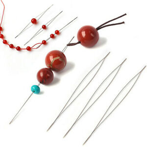 Lot de 5 aiguilles passe-fil aide pour enfiler les perles, bijoux, DIY