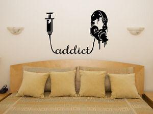 Music Addict - Headphones Tunes Studio Art Decal Sticker Picture Poster Decorate