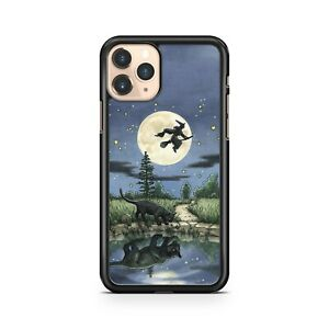 Full Moon Witch Stars Cat Water Reflection Animals Colourful Phone Case Cover