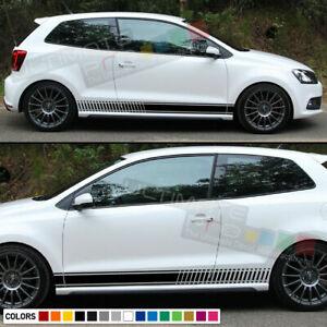 Stickers Stripe for VW Volkswagen Polo Mk5 6R body gti 2009 2014 2015 2016 2017