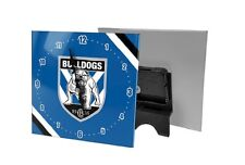 BULLDOGS Mini Glass Clock    NRL
