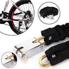 1.2M Metal Motorbike Motorcycle Bicycle Heavy Duty Chain Lock Padlock Bike Cycle