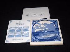 "Holland - America Line Vista Class, Royal Goedewaagen Porcelain Coaster, 3 3/4"""