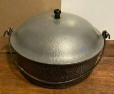 Vintage Club Hammered Aluminum Cookware Dutch Oven with Bail Handle