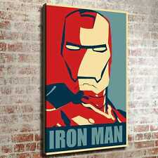 "12""x18""Iron Man HD Canvas Photo prints Painting Home decor Picture Room Wall art"