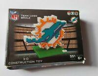 Miami Dolphins NFL American Football 3D Logo BRXLZ Brick Construction Set Puzzle