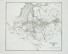 1857 Osteuropa Russland Russia Polen Baltikum Napoleon Kupferstich-Landkarte