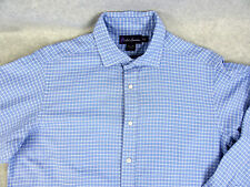 Ralph Lauren Blue Button Down Shirt Purple Label Size 15-1/2 Made in Italy FC