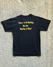 Vtg USMC Marine Corps T Shirt Sz L There is No Hunting Like the Hunting of Man
