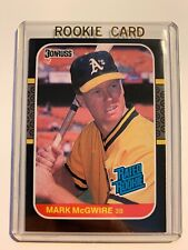 """1987 Donruss Mark McGwire """"Rated Rookie"""" Card #46  - NM MINT"""
