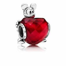 Genuine Pandora Silver Disney Mickey Love Heart Charm Bead S925 ALE 797168NFR