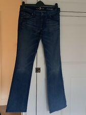 Seven For All Mankind Blue Roxane Jeans With Crystals On Back Pocket 28