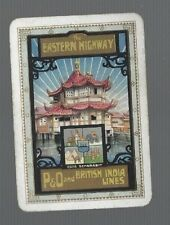 """Swap Playing Cards  1  VINT  WIDE   P&O  LINE """" THE EASTERN HIGHWAY """" ADVT   S58"""