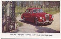 MG Magnette ZA Original Factory issued colour Postcard circa 1957