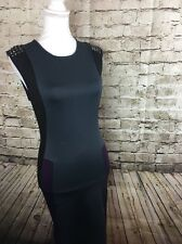 BUFFALO DAVID BITTON SIZE SMALL GREY PURPLE BLACK SHEATH DRESS Size Small