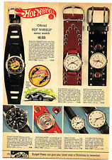 1972 AD HOT WHEELS RACER WATCH MUSICAL CHALET PIANO TUNEFUL CHEST SWISS WATCH