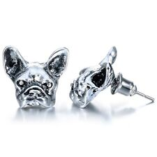 Funy Design Pug Retro Bulldog Animal Earrings Antique Bronze Silver Good