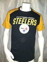 Pittsburgh Steelers NFL Team Apparel T-Shirt  Mens Size L Football Black/Yellow