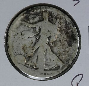 Poor Condition Better Date 1921-S Walking Liberty Half Dollar!