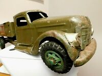 """BUDDY L USA 1939.""""US ARMY TRUCK""""BIG 21 INCH""""GOOD SOLID TRUCK""""HARD TO FIND MODEL"""""""