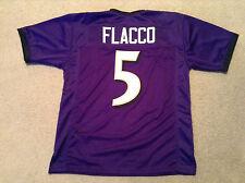 UNSIGNED CUSTOM Sewn Stitched Joe Flacco Purple Jersey - Extra Large