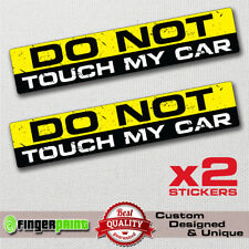 DON'T TOUCH MY CAR decal sticker vinyl funny bumper 4X4 SUV JEEP racing GMC 4WD