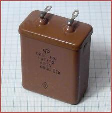 Russian PIO Capacitor OKBG-MN 1.0uF 1000nF 400V 1pc.or more