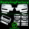 09-14 Ford F150 Chrome Mirror+4 Door Handle+keypad+no PSG keyhole+Tailgate Cover
