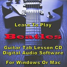 BEATLES Guitar Tab Lesson CD Software - 260 Songs