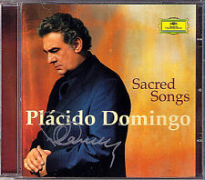 Placido DOMINGO Signed SACRED SONGS Ave Maria Schubert Gounod Mascagni Tosti CD
