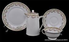 Lot of 5pc Victoria Austria Breakfast Set Creamer w/Lid Cup & Saucer Underplate